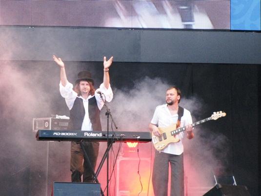 """Мукачівський """"Rock-H"""" представив дві нові пісні у львівській фан-зоні ЄВРО (ФОТО,ВІДЕО)"""