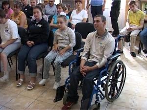 В Мукачеві сліпих та слабозорих дітей навчали правилам безпеки на дорозі