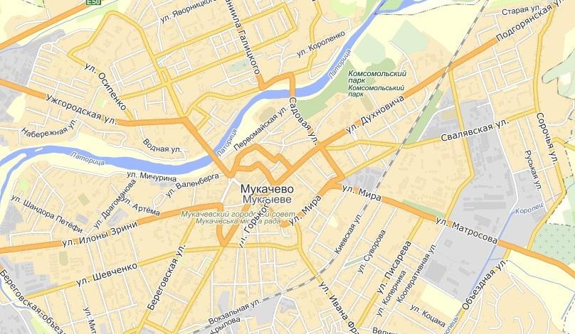 На Яндекс.Картах з'явилися супутникові знімки Мукачева та ще чотирьох закарпатських міст