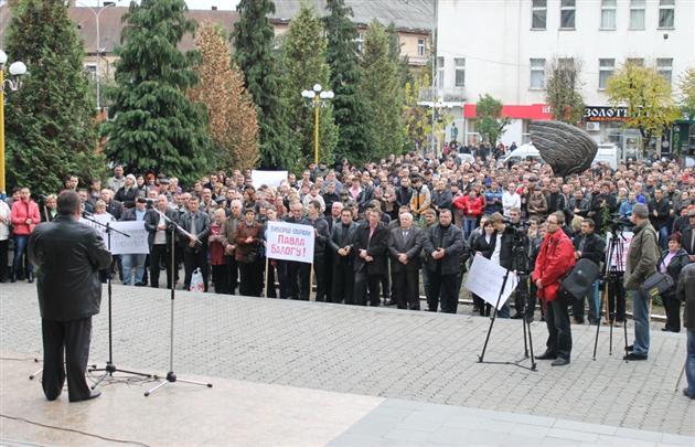 У Хусті мітингують проти фальсифікації на 71 виборчому окрузі (ФОТО)