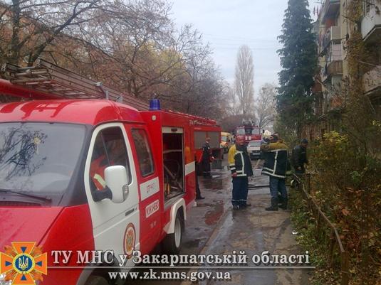У Мукачеві ледь не згоріла квартира (ФОТО)