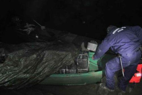 Угорські прикордонники виявили катер з великою кількістю контрабанди, що приплив із Закарпаття