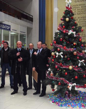 Першу в Україні університетську ялинку відкрили в УжНУ (ФОТО)