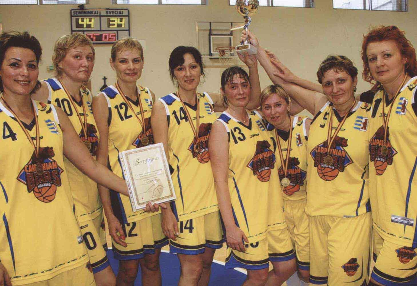 Мукачівські баскетболістки зайняли друге місце на турнірі у литовському Вільнюсі