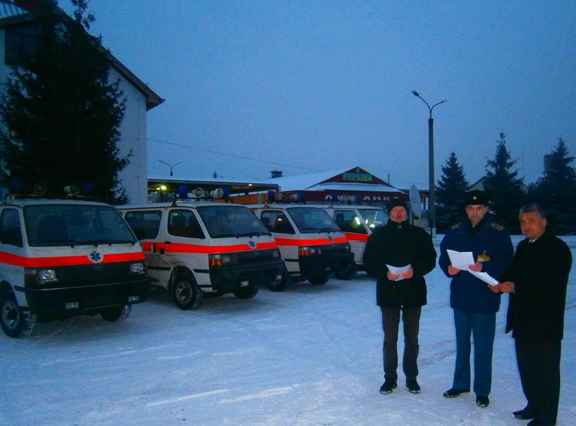 Угорська компанія подарувала Закарпаттю 4 швидкі допомоги та пожежну машину