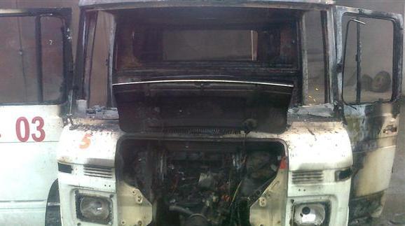 У Мукачеві горів 29-річний автомобіль швидкої допомоги (ФОТО)