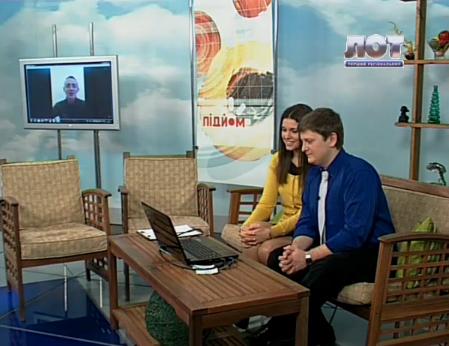 """Головний редактор """"Панорами Мукачева"""" побував в ефірі луганського телеканалу (ВІДЕО)"""