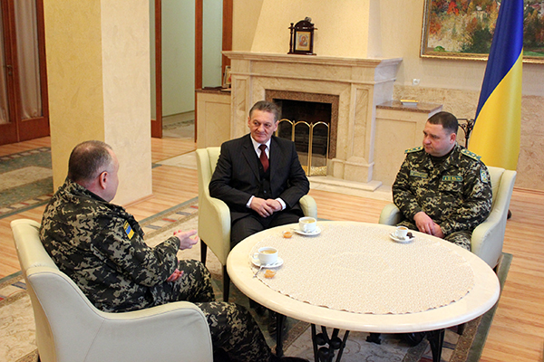 Олександр Ледида зустрівся з начальником Західного регіонального управління Державної прикордонної служби (ФОТО)