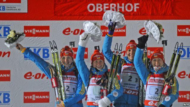 України фінішували другими на етапі Кубку світу з біатлону у Сочі