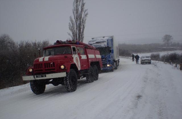 За час негоди на території Закарпатської області рятувальники надали допомогу 119 атомобілям