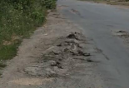 Ями та суцільні вм'ятини – у такому стані перебуває вулиця Пряшівська, що у Мукачеві (ВІДЕО)