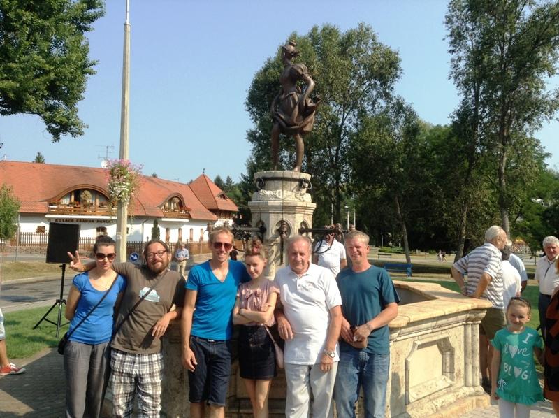 Закарпаття подарувало Угорщині фонтан (ФОТО)