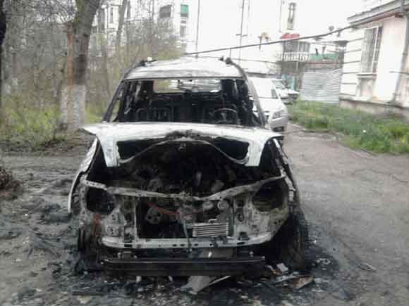 Підпалений зранку позашляховик належав керівнику одного з підрозділів УБОЗу