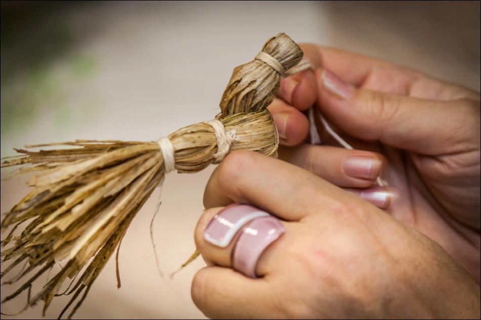 Підприємливі закарпатські родини за один місяць зароблять дві тисячі гривень на кукурудзоплетінні (ВІДЕО)