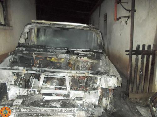 У словака в Ужгороді майже вщент згорів Hummer H2 (ФОТО)