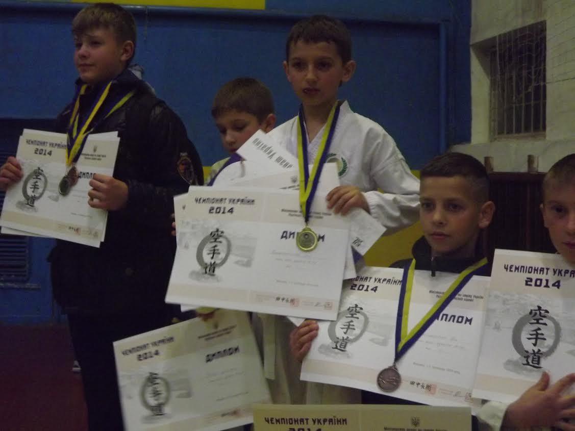 Закарпатці привезли із Чемпіонату України з Шотокан карате 11 нагород