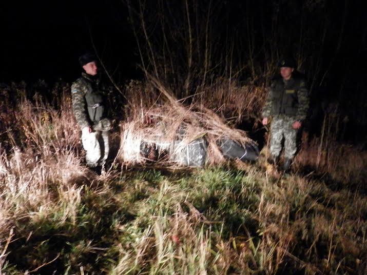 Біля українсько-угорського кордону прикордонники виявили велику партію контрабанди