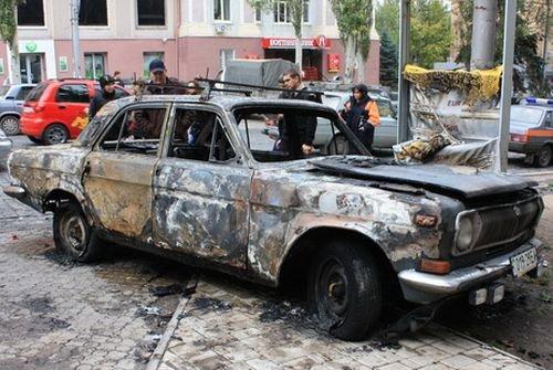 На Тячівщині під час руху загорівся легковик