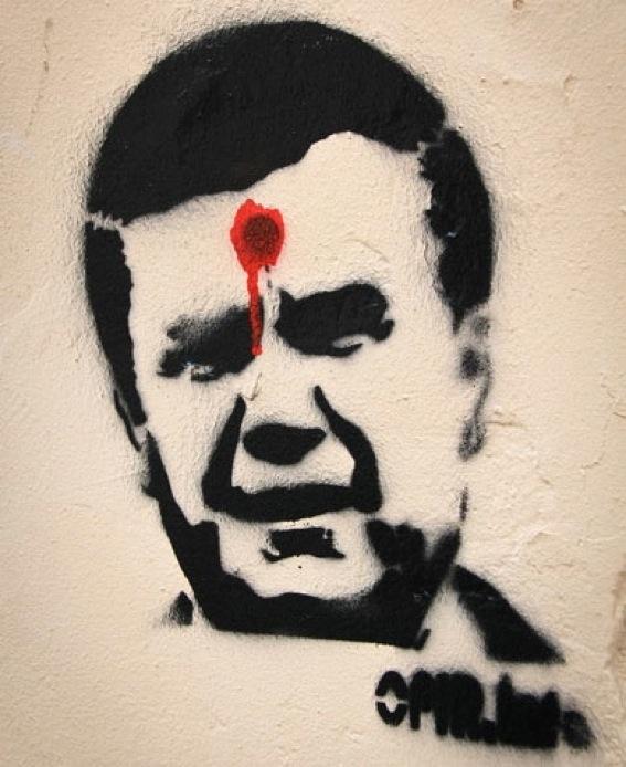 Віктор Янукович став мішенню хустян