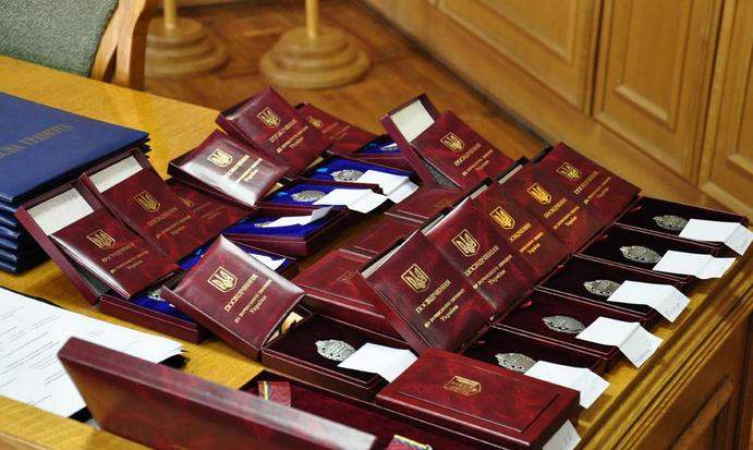 Президент Петро Порошенко нагородив закарпатських військових державними нагородами