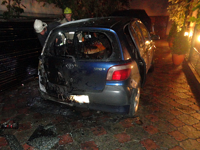 В ніч на 26 червня в Іршаві майже вщент вигорів легковий автомобіль