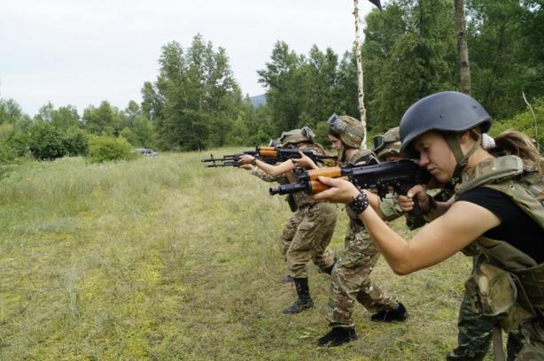 В області відбувся жіночий військовий вишкіл