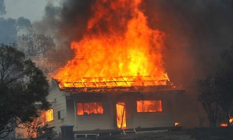 На Міжгірщині загорівся житловий будинок