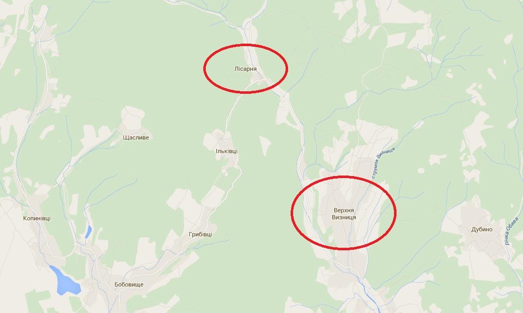"""Силовики """"прочісують"""" ліси навколо сіл Верхня Визниця та Лісарня у пошуках бійців ПС"""