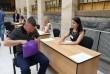 Закарпатські держохоронці контролюють порядок під час прийому анкет у патрульну поліцію