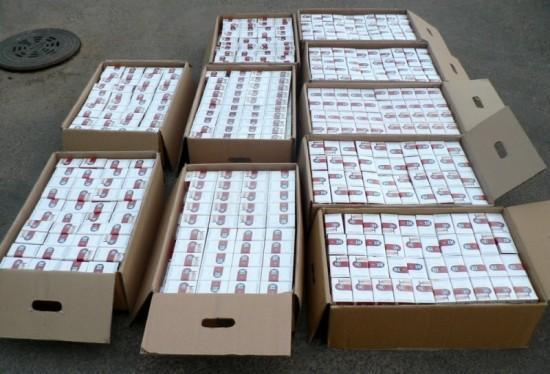 На Рахівщині прикордонники виявили 10 ящиків контрабандних сигарет