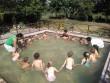 Вихованці іршавського дитсадка рятуються від пекельної спеки у басейні
