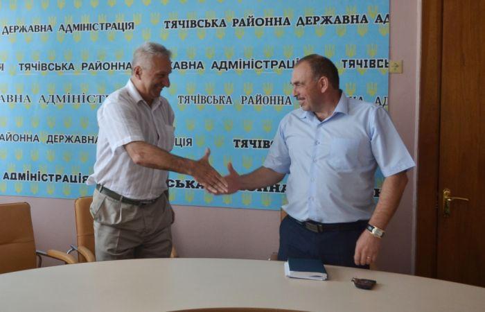 Нового голову Тячівської РДА Василя Дем'янчука представили місцевій громаді