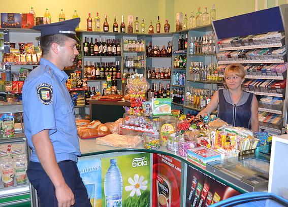 Ужгородські міліціонери перевіряли працівників магазинів на продаж алкогольної продукції неповнолітнім