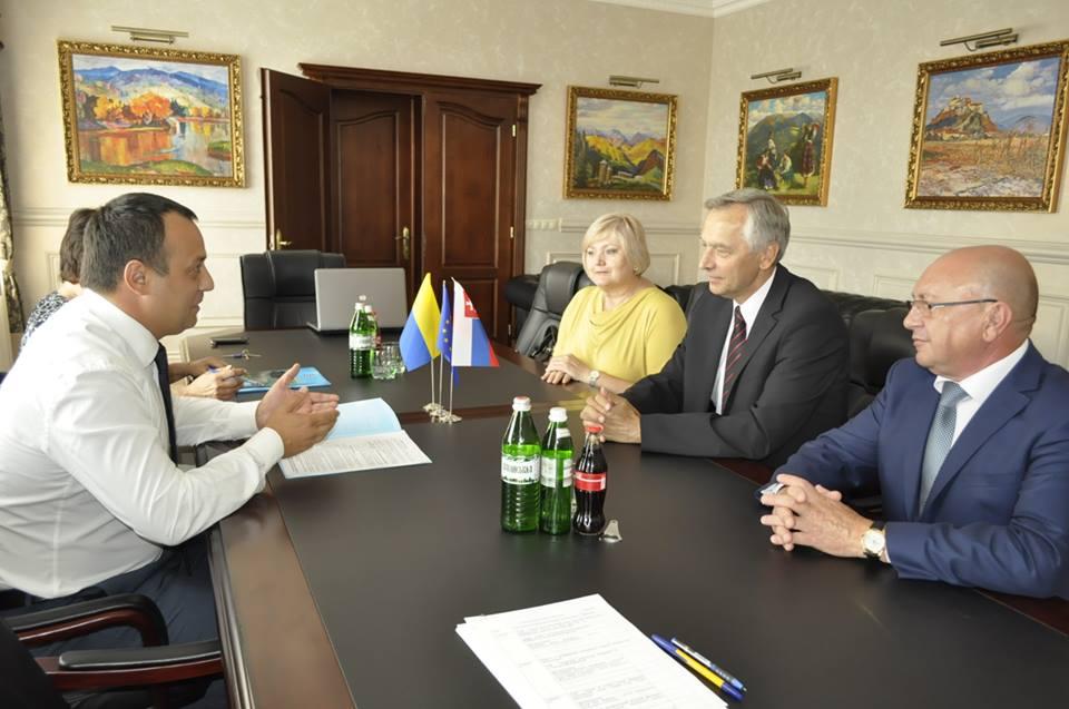 Володимир Чубірко зустрівся з віце-спікером парламенту Словаччини Яном Фігелем