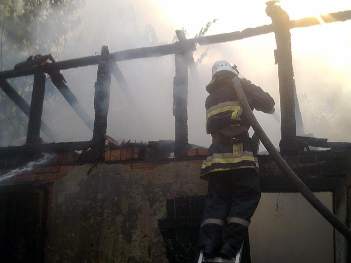 Вісім надвірних споруд горіли у Хусті