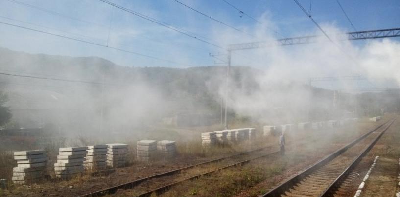 На Великоберезнянщині під час руху загорівся поїзд