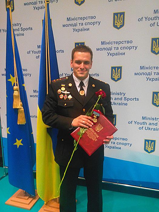 Закарпатський піротехнік отримав почесну нагороду від Кабінету Міністрів України