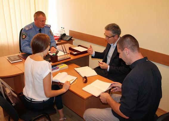 Керівник обласної міліції Сергій Князєв зустрівся з представниками ОБСЄ