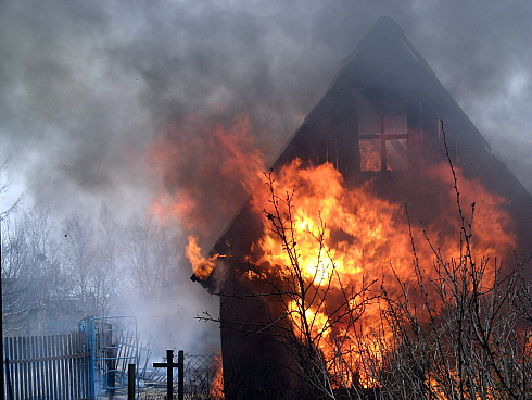 На Тячівщині загорівся житловий будинок