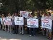 У Берегові протестували проти підвищення тарифів на комунальні послуги
