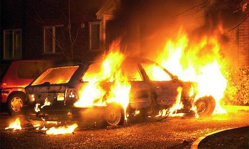 В обласному центрі підпалили автомобіль
