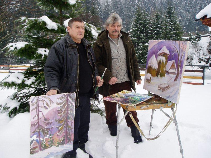 Знані художники з'їхалися до Синевира, щоб увіковічнити на своїх картинах красу Закарпаття