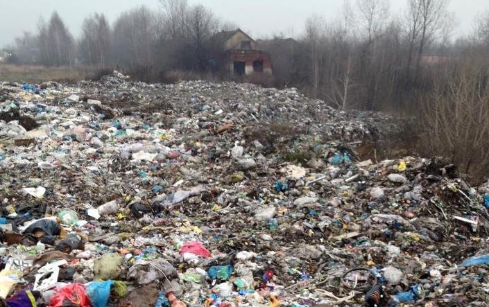 Інтернет-юзерів шокував розмір стихійного сміттєзвалища в одному із сіл Хустщини
