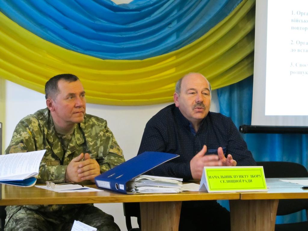 Рахівський військовий комісаріат провів тренування з працівниками сільрад