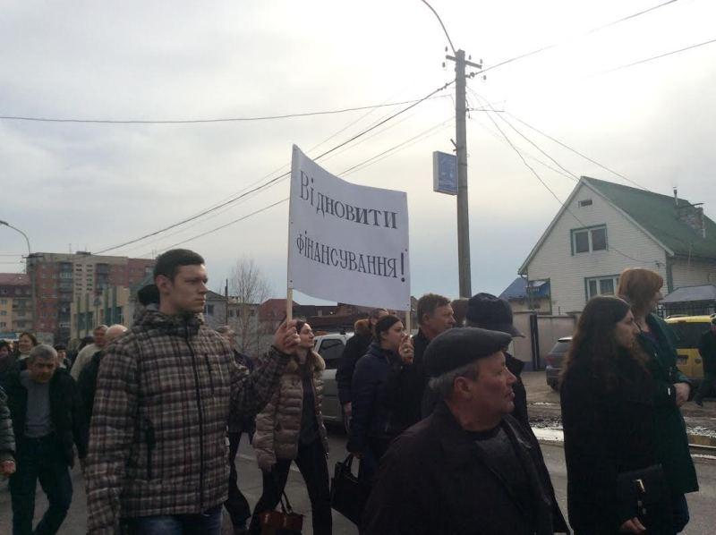 """""""Ми тут, щоб нас почули"""", – студенти та викладачі під час мирної ходи"""