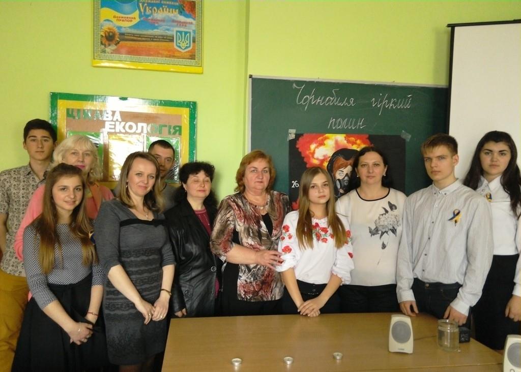 Ужгородські студенти вшанували пам'ять жертв аварії на Чорнобильській АЕС