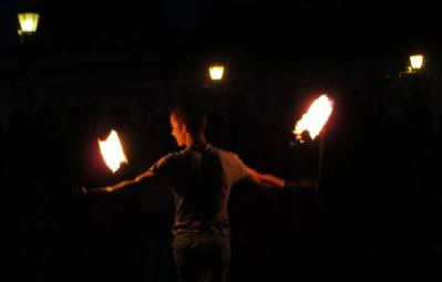 У центрі Ужгорода відбулось вогняне шоу