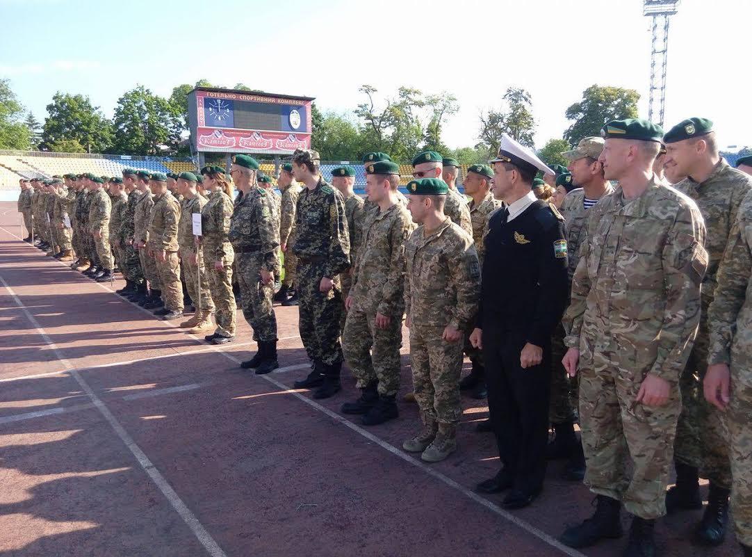 Прикордонники зі всієї України з'їхались до Ужгорода на змагання