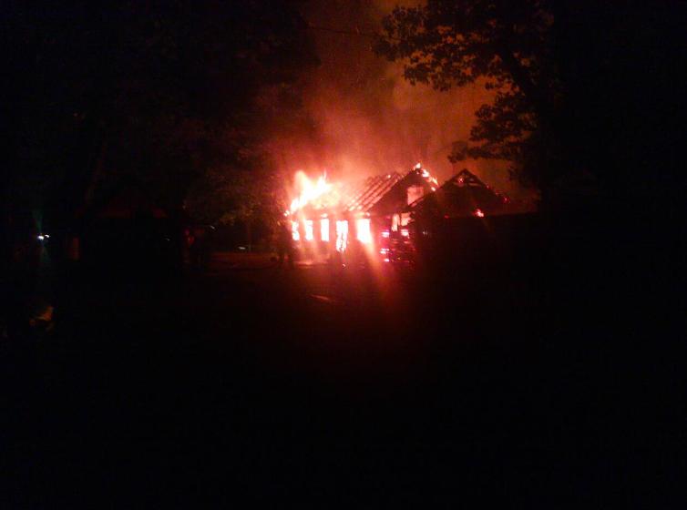 У Боздоському парку Ужгорода вщент згорів ще один ресторан