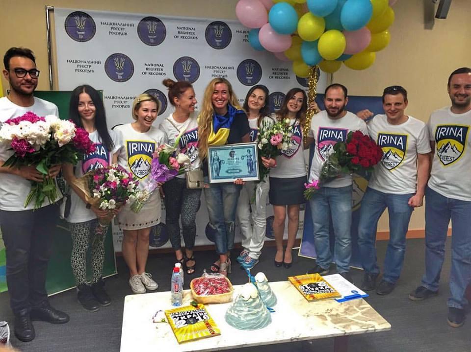 Мукачівку Ірину Галай урочисто зустріли в аеропорту в Києві